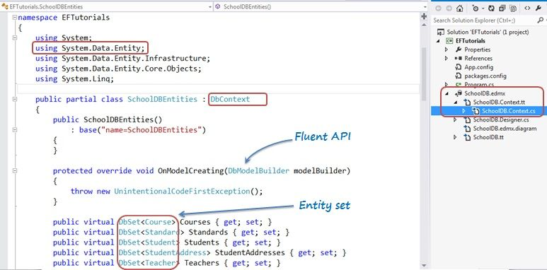 Lớp DbContext trong Entity Framework