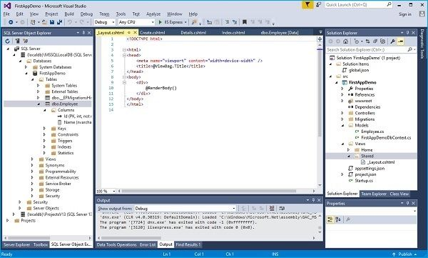 Nội dung file _Layout.cshtml trong ASP.NET Core