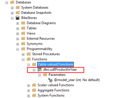 Tạo table function trong SQL Server