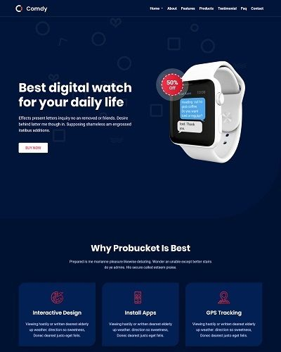 Landing page bán smart watch 2