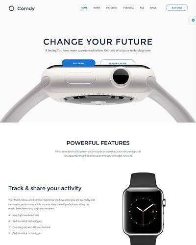 Landing page bán smart watch 4