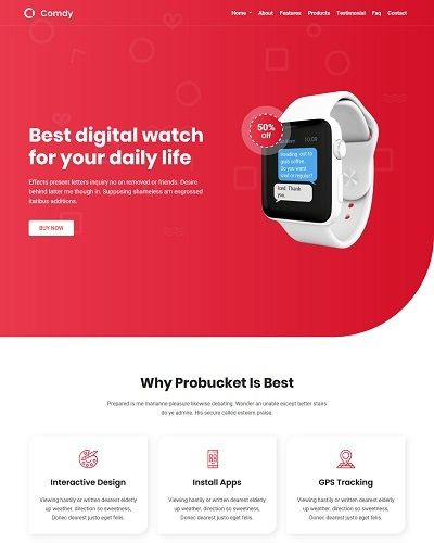 Landing page bán smart watch