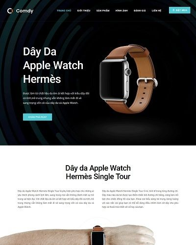Landing page bán dây da Apple Watch Hermès Single Tour