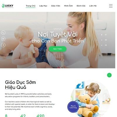 Landing page trường mầm non Lucky