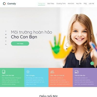 Landing page trường mầm non STEM